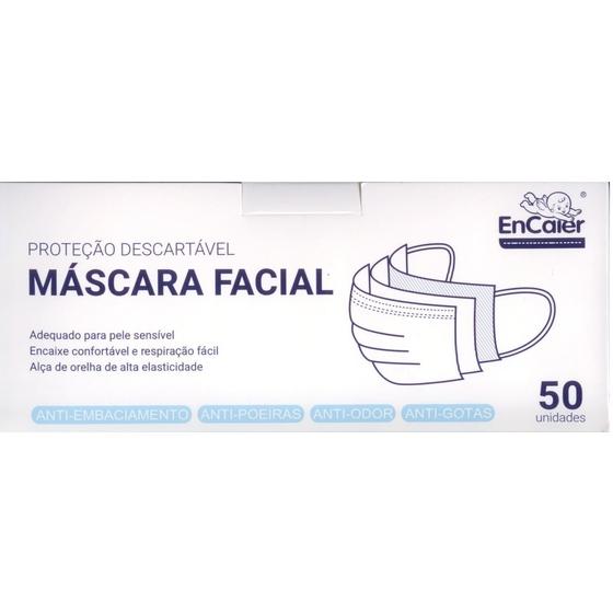 Máscaras Facial Descartável com elásticos x 50unid