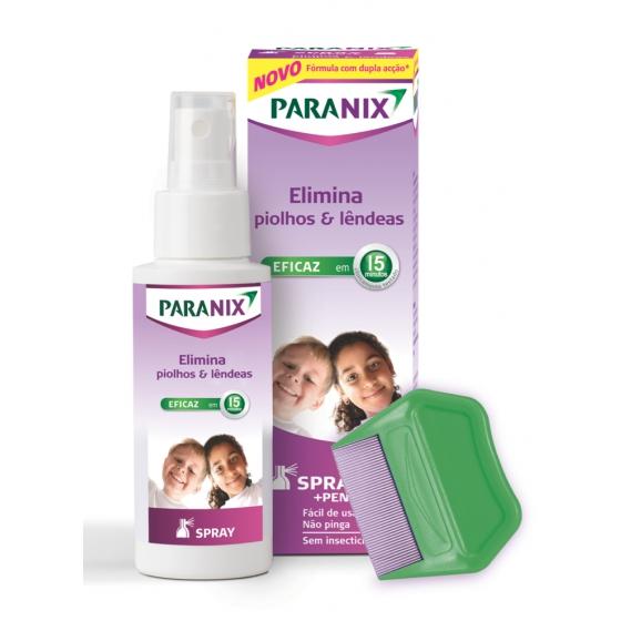 Paranix Spray Piolhos/Lêndeas 100 ml + Pente