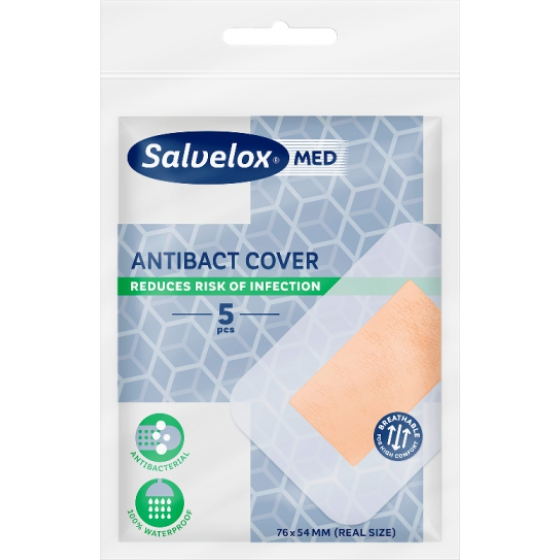 Salvelox Med Antibact Cover76x54mm X 5