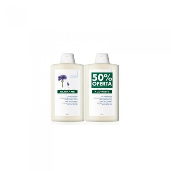 Klorane Centáurea Azul Duo Champô cabelo grisalho/branco 2 x 400 ml com Desconto de 50% na 2ª Unidade(s)