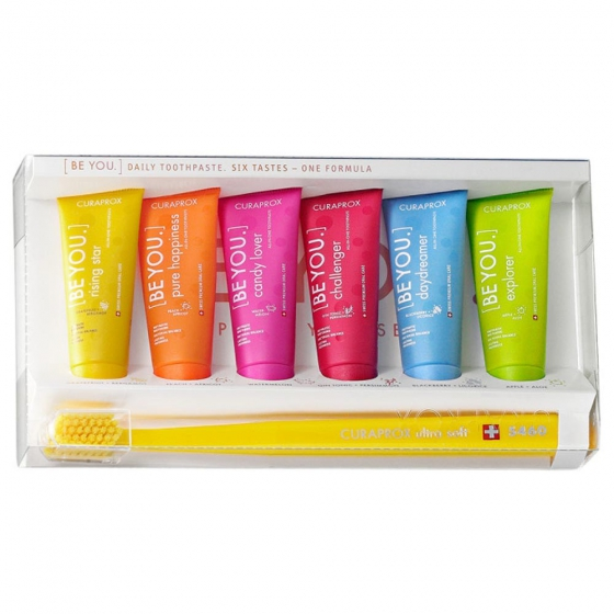 Curaprox Be You Pastas Dentífricas 6 x 10 ml + Cs 5460 Ultra Soft Escova de dentes