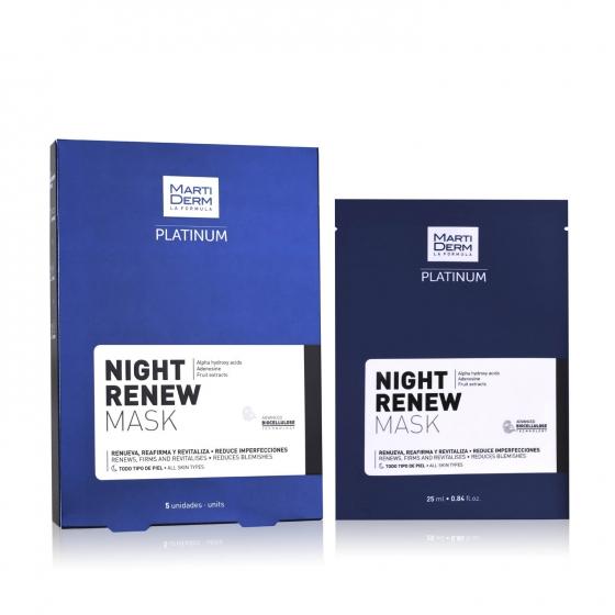 Martiderm Platinum Duo Night Renew Mask 2 x 5 Saqueta(s) Edição Limitada