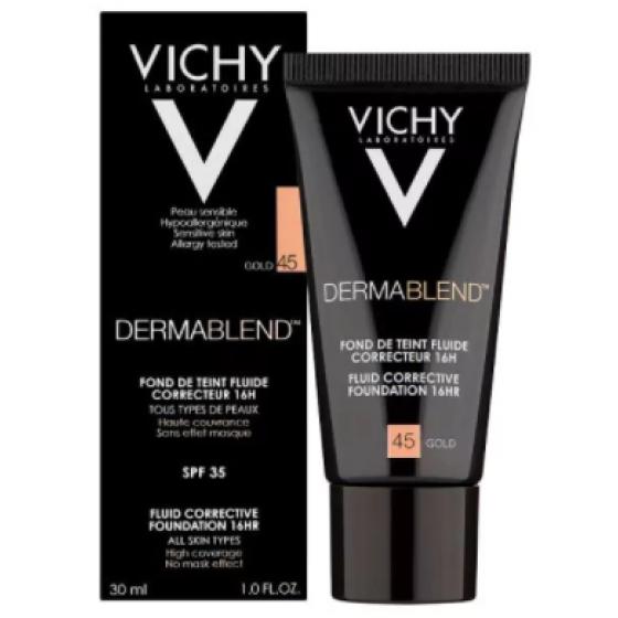 Vichy Dermablend 45 Fondteint Fl Fp35 30ml