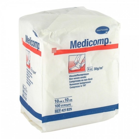 Medicomp Cpssa 10x10 Cm X 100 compressa