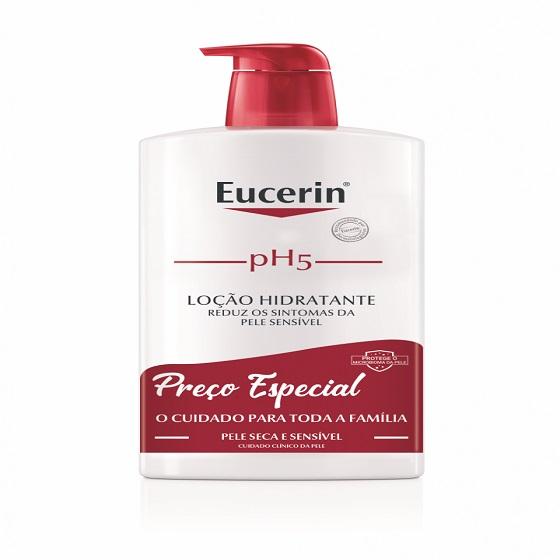 Eucerin PH5 loção Hidratante Pele Seca e Sensível 1L Preço Especial