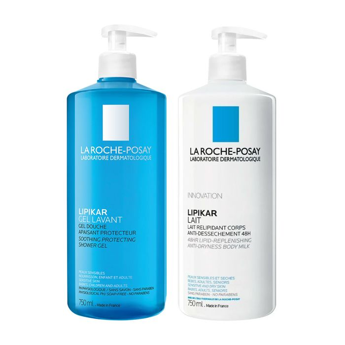 La Roche Posay Kit Lipikar Leite + Gel Lavante 50% desconto na 2ªembalagem
