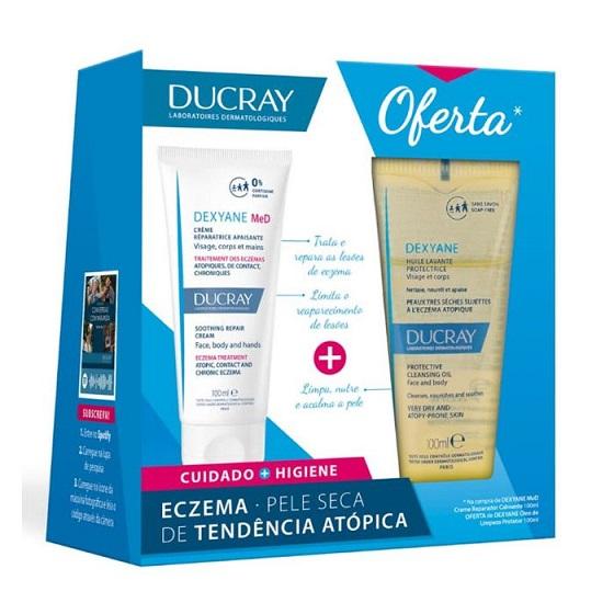 Ducray Dexyane MeD Creme Reparador Calmante 100 ml com Oferta de Óleo de Limpeza Protetor 100 ml