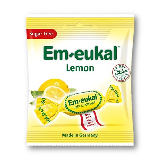 Em-Eukal Rebuçados Tosse Limão, Sem Açucar, 50g