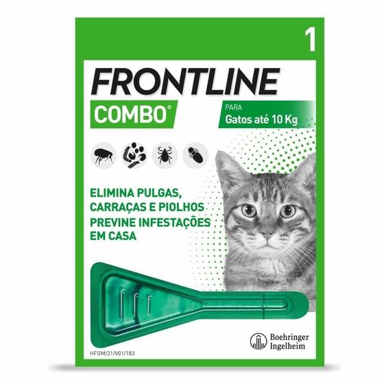 Frontline Combo Sol Top Gato 0,5 Ml X 1 sol unção punctif VET