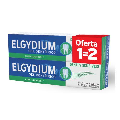 Elgydium Dentes Sensíveis Duo Gel dentífrico 2 x 75 ml