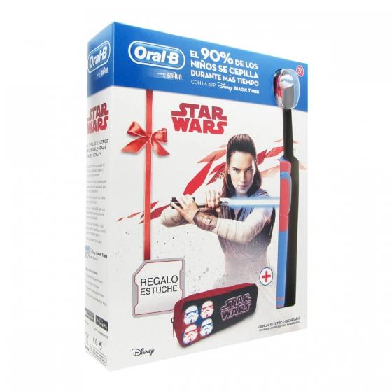 Oral-B Crianças Stages Power Star Wars Escova Dentes Elétrica Infantil D12 com Oferta de Estojo