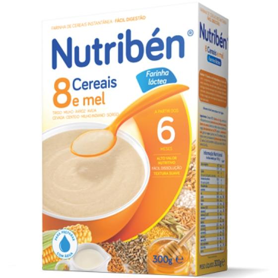 Nutriben Farinhas 8 Cereais Mel La 300g